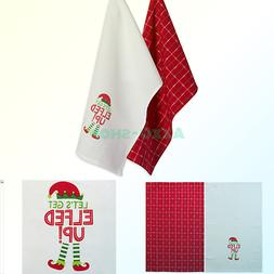DII 100% Cotton 18x28 Christmas Holiday Dish Towels Set of 2