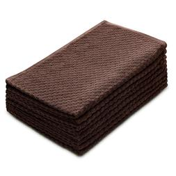 Cotton Craft - 8 Pack Chocolate EuroCafe Waffle Weave Terry