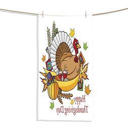 FootMarkhome Cotton Craft - Luxury Beach Towel Happy Thanksg