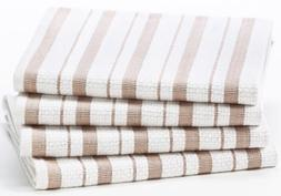 Cotton Craft - 4 Pack Dish Cloths, 15x15 - Linen, Pure 100%