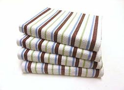 Cotton Craft - 4 Pack Oversized Kitchen Towels, 20x30 - Choc