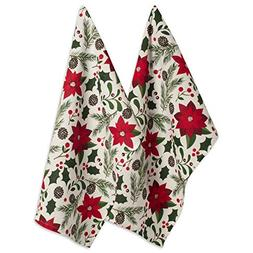 DII 100% Cotton Christmas Dish Towel 18x28, Set of 2-Woodlan