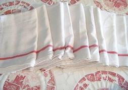 Cotton Dish Flour Sack Kitchen 10 Towels French Stripe Dinne