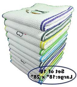 QuattroLink Premium Quality 100% Cotton Dish Kitchen Towels
