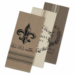 "DII Cotton French Grain Sack Dish Towels, 18 x 28"" Set of 3,"