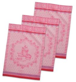DII Cotton French Jacquard Dish Towels, 20x28 Set of 3, Deco