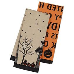 "DII Cotton Halloween Dish Towels, 18x28"" Set of 2, Decorativ"