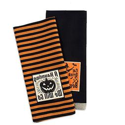 DII Cotton Halloween Holiday Decorative Dish Towels, 18x28,
