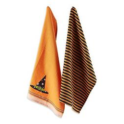 "DII Cotton Halloween Holiday Dish Towels, 18x28"" Set of 2, D"