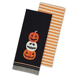 """DII Cotton Halloween Holiday Dish Towels, 18x28"""" Set of 2, D"""