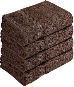 Cotton Large Hand Towels Multipurpose Bath Gym Spa Dark Brow