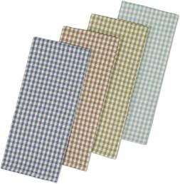 DII Cotton Heavyweight Plaid Dish Towels Kitchen Gift, 18 x