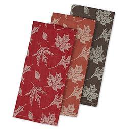 DII Cotton Jacquard Dish Towels, 20x28 Set of 3, Decorative