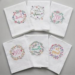 Fyore Cotton Kitchen Dish Towel Set Decorative Tea Towel wit