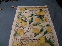 Michel Design Works Cotton Kitchen Tea Towel  Lemon Basil wi