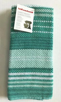 KitchenAid 100% Cotton Kitchen Towels Aqua Blue Turquoise St