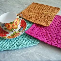 Cotton Kitchen Towels Knitted Handmade Supplies Cleaning Cra