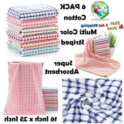 Cotton Kitchen Towels Super Absorbent Towel Dish Cloths Set