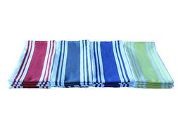 "Cotton Kitchen Towels Vintage Stripe 20 x 28"" 4/pack"