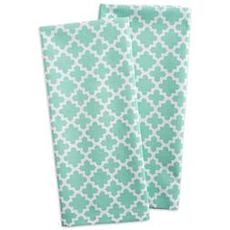 "DII Cotton Lattice Dish Towels with Hanging Loop, 18 X 28"" S"