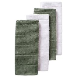 DII Cotton Luxury Chef Terry Dish Towels, 16x26 Set of 4, Ul