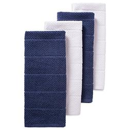"""DII Cotton Luxury Chef Terry Dish Towels, 16x26"""" Set of 4, U"""