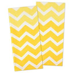 "DII Cotton Ombre Chevron Dishtowels, 18 x 28"" Set of 2, Over"