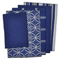"""Cotton Oversized Kitchen Dish Towels 18 x 28"""" and Dishcloth"""