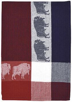 """Traders and Company 100% Cotton Red Blue & White 20""""x28"""" Dis"""