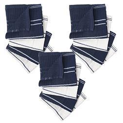 Ribbed Terry Kitchen Dish Cloths  Absorbent & Durable for Cl