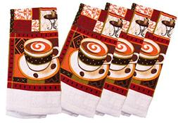 Kitchen Towel 100% Cotton Sets - Espresso Coffee Cups