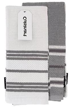 Cuisinart 100% Cotton Terry Hand and Dish Kitchen Towels - A