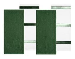 cotton terry kitchen dish towel dark green
