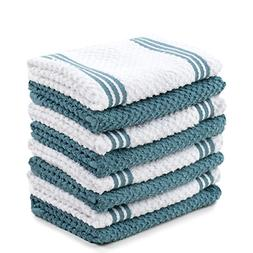 Sticky Toffee Cotton Terry Kitchen Dishcloth Towels, 8 Pack,