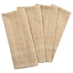 cotton terry windowpane dish towels