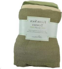 """DII Cotton Utility Flour Sack, 28x29"""", Set of 4, Multi Use D"""