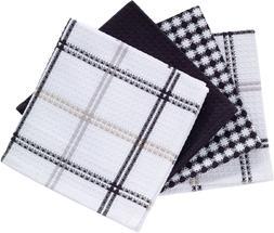 T-fal Textiles 100% Cotton Waffle Weave Kitchen Dish Cloths,