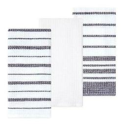 Sticky Toffee Cotton Waffle Weave Kitchen Towels, Gray, 3 Pa