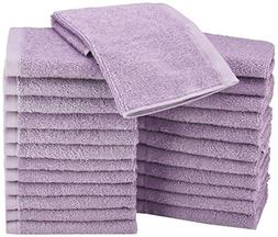 AmazonBasics Washcloth - Pack of 24, Lavender