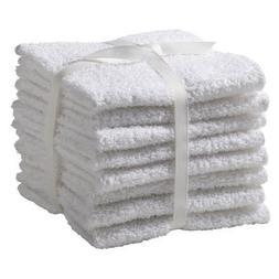 Room Essentials 8 Pack Cotton Washcloths - White