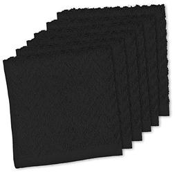 """DII Cotton Zig Zag Weave Dish Clothes, 12 x 12"""" Set of 6, He"""