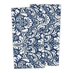 """DII Cotton Damask Kitchen Dish Towels, 28 x 18"""" Set of 2, Lo"""