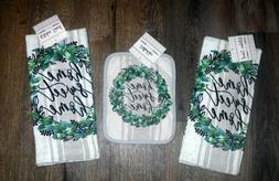 Country Home Sweet Home Pot Holder & 2 Kitchen Towels Set Ki