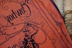 Tea Towel Cowboy Rodeo Horse Jacquard Kitchen Wall Art Brick
