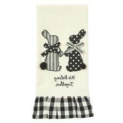 Cream Dish Towel Belong Together Spring Bunny Easter Farmhou