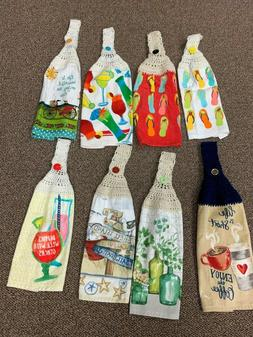 ALL OCCASION CROCHET HANGING KITCHEN TOWELS - NEW