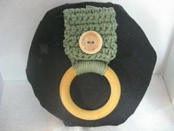 Crochet Kitchen Towel Wood Ring Holder ~ **Gift Idea