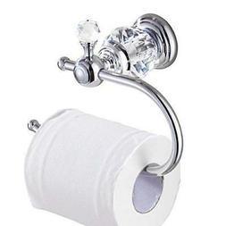 Kabter Crystal Series Brass Toilet Paper Roll Holder Polishe