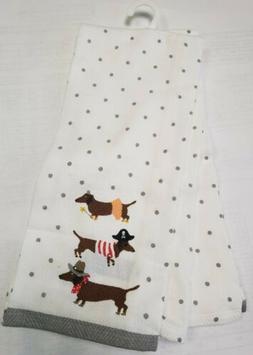 "Cynthia Rowley Dachshound Halloween Kitchen  Towels 18""x 28"""