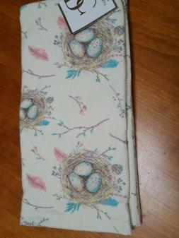 Deborah Connolly Waffle Weave Kitchen Towel Set . 2 Towels N